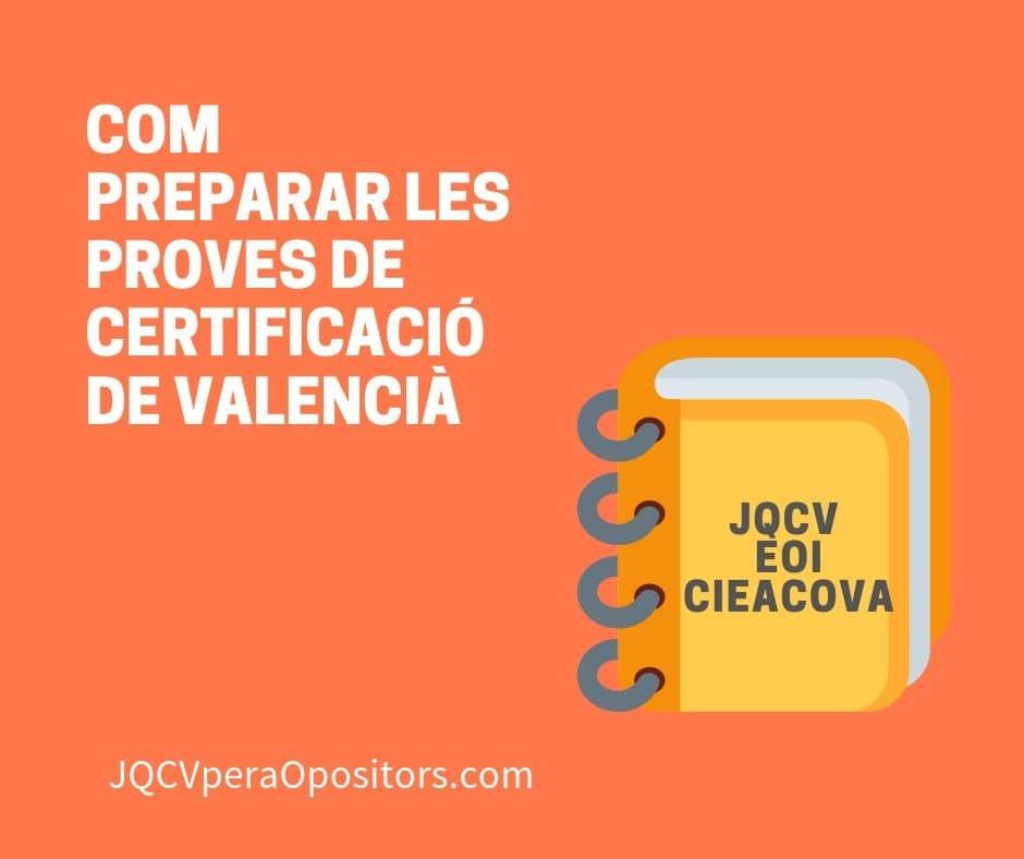 Guia preparació proves de valencià